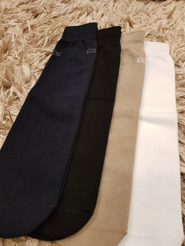 Black, Light Beige, White , Navy Blue - Set of 4