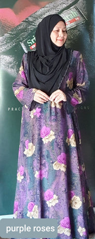 Long Dress - Mawar5 ~ Cotton Viscose