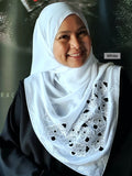 Square Tudung Cotton Chiffon Star Bling