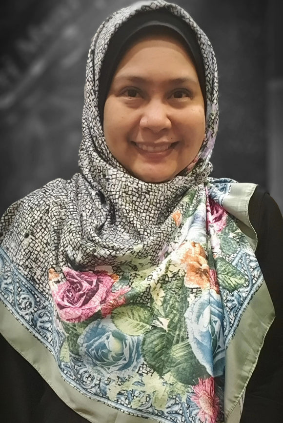 Square Tudung - bouquet of roses
