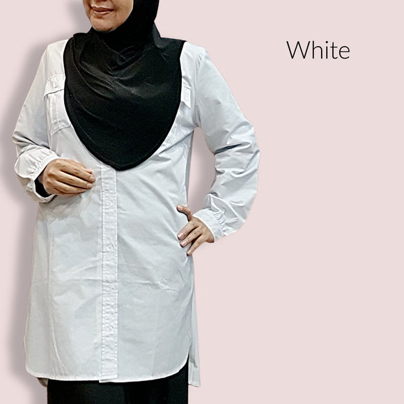 Cotton Buttoned Tunic ~ White
