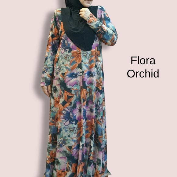 Flair Dress - Flora orchid