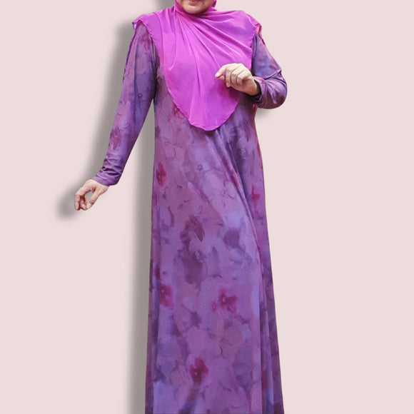 Flair Dress - Dusty Plum Pink