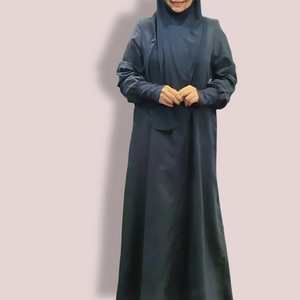 Cuffed Cotton Maxi - Navy Blue