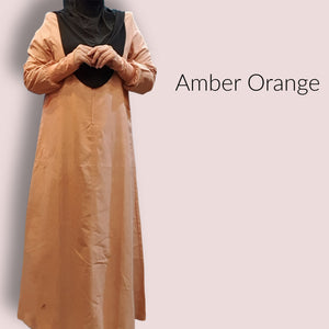 Cuffed Cotton Maxi - Amber Orange