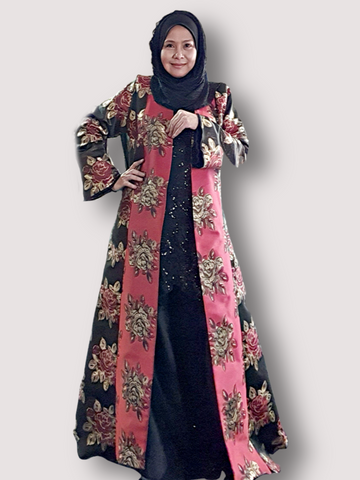 Rose DusterAbaya Jacket ~ Red Gold
