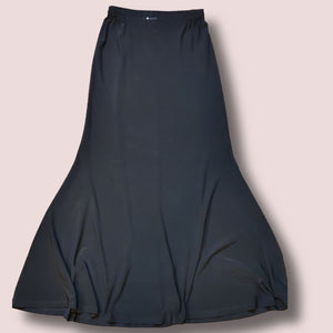 Plain Munawwarah Lycra Skirt - Black