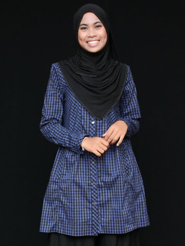 Squares and Checks Buttoned Tunic