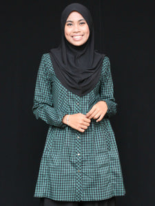 Tunic with Buttons - Squares and Checks
