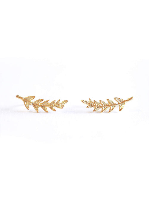 11:11 Ivy Matte Gold Earrings