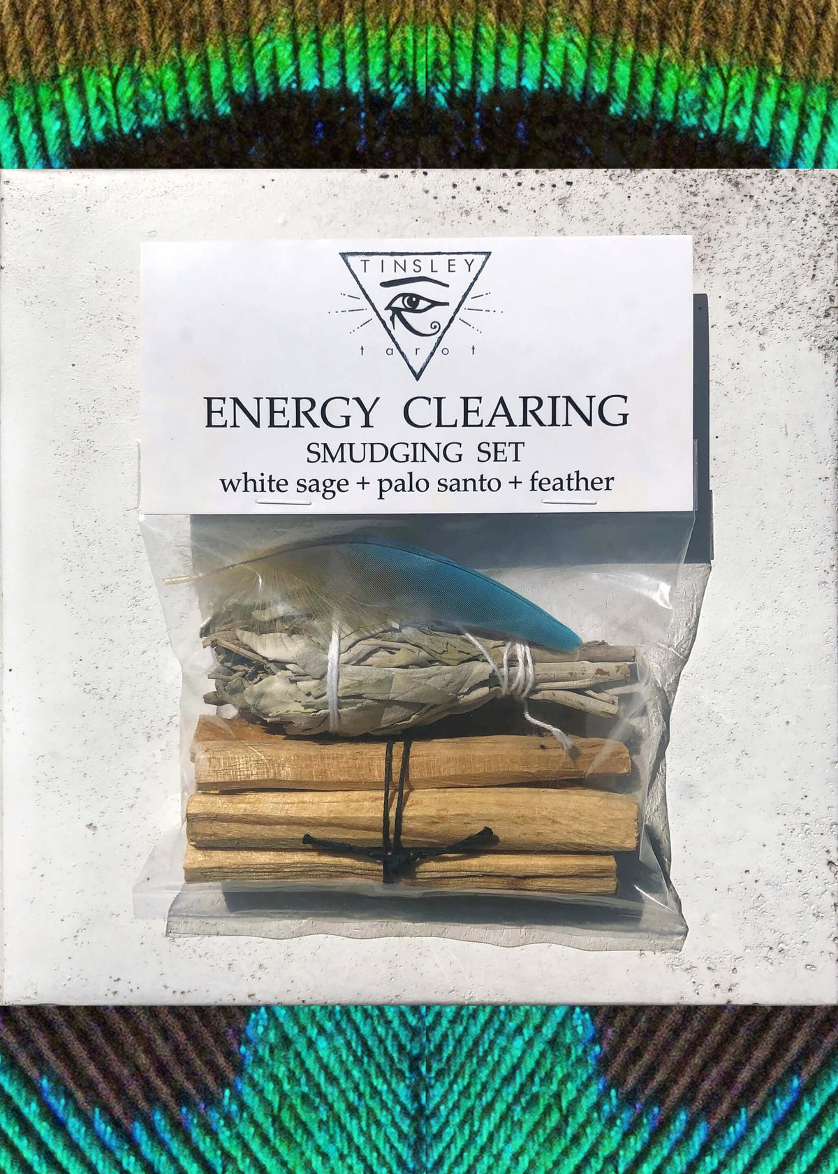 Energy Clearing Smudging Set + White Sage & Palo Santo