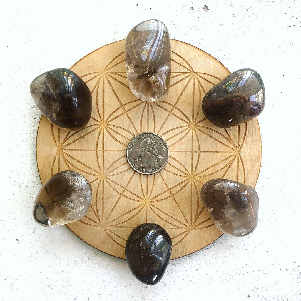 Root Chakra Smoky Quartz Tumbled Stone