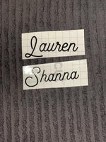 DIY Champagne Glass Name Decal Sticker