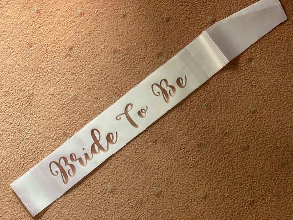Bridal Party Sashes