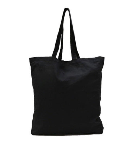 Black Calico Tote/Library Bag