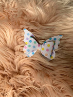 Butterfly Rainbow Polka Dot Bow (Medium)