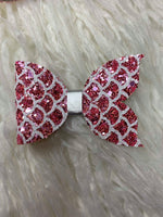 Mermaid Bow - Pink Chunky Glitter Bow