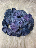 Dark Blue Tie Dye Scrunchie