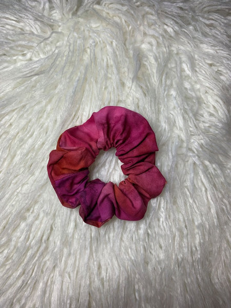 Hot Pink Tie Dye Scrunchie