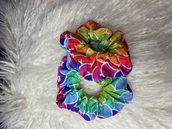 Rainbow Mermaid Scrunchie
