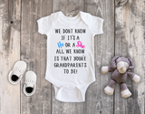 Personalised Cap Sleeve Baby Body Suit