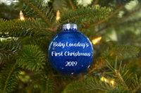 Baby's First Christmas Personalised Glitter Baubles