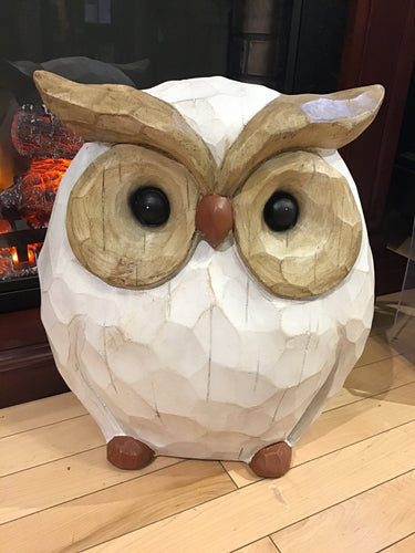 Polyresin Owl Statue