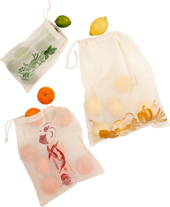 Printed Produce Bag 3 Set