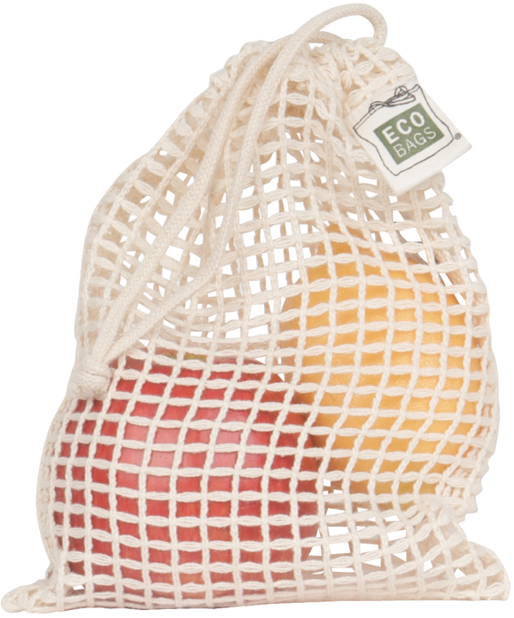 ECOBAGS MINI DRAWSTRING MESH BAG