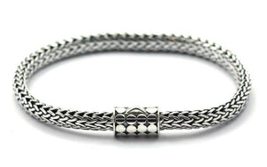 SOHO Classic Bali Snake Chain With Barrel Clasp 7.5""