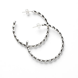 Rice Bead Hoops