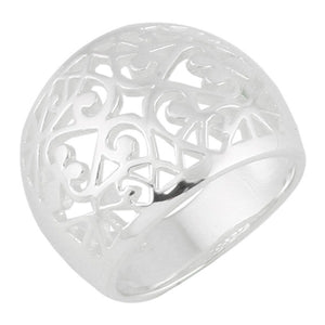 Domed Scroll Ring