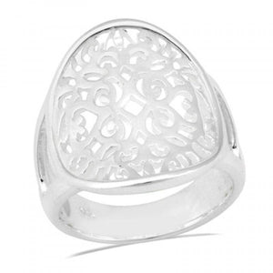 Oval Saddle Scroll Ring