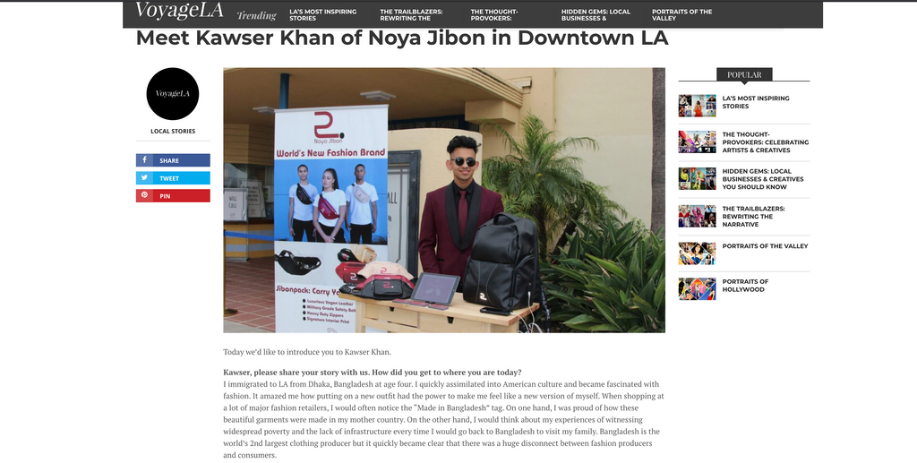 Voyage LA Interview With Founder & CEO Kawser Khan