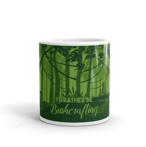 I'd Rather Be Bushcrafting Novelty Mug - Be More Wild