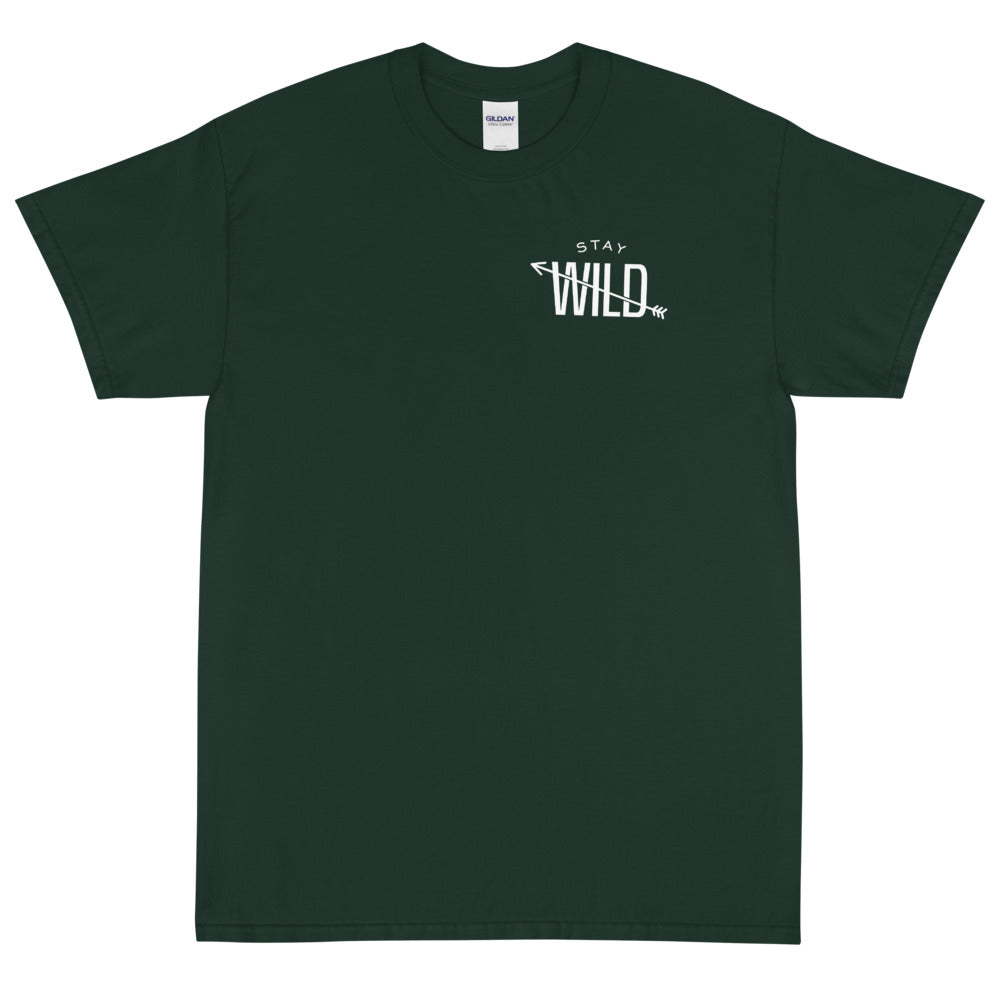 #Stay Wild - Be More Wild Slogan - Short Sleeve T-Shirt - Be More Wild