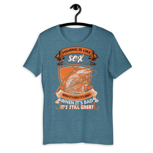 Funny Fishing T-Shirt - Shock Your Friends - Be More Wild