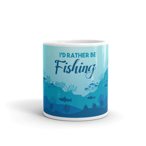 I'd Rather Be Fishing Mug - The Calm Coffee Mug - Be More Wild
