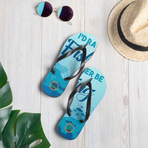 I'd Rather Be Fishing Flip-Flops - Unique Design by Be More Wild - Be More Wild