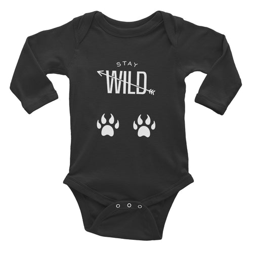 Stay Wild - Wild Child Infant Long Sleeve Bodysuit - Be More Wild