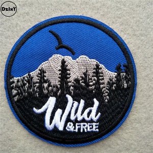 Iron On Patch Wild & Free - Be More Wild