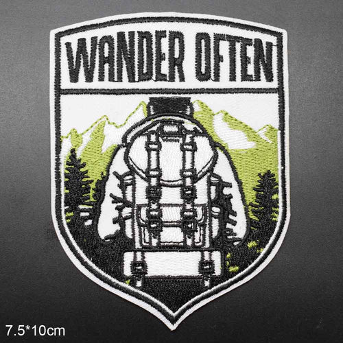 Wander Often Outdoor Iron On Embroidered Patch - Be More Wild