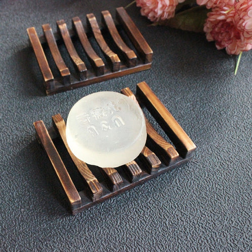 New Bathroom Dish Plate Case Home Shower Bamboo Wooden Soap Travel Hiking Holder Container Soap Box soap holder dish - Be More Wild