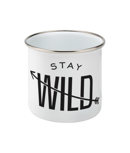 Stay Wild Enamel Camping Mug - Be More Wild