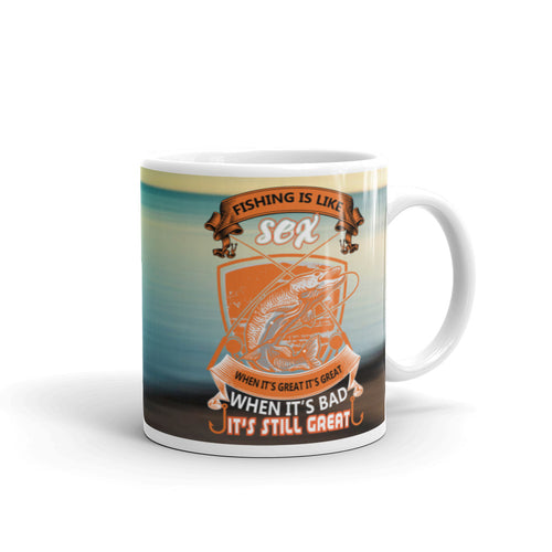 Funny Fishing Mug Coffee Mug 11oz