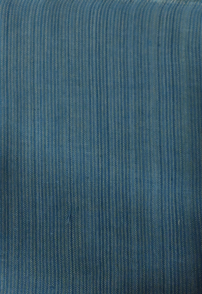 FM01_Naturally dyed handloom fabric Cyan Fabric