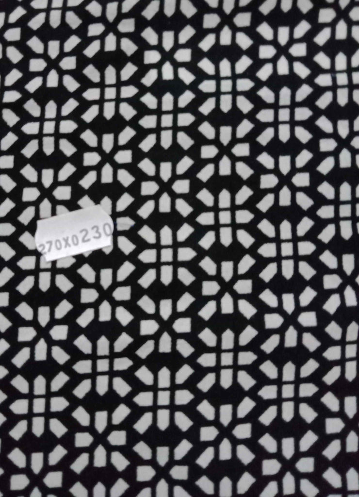 1_100 poly ester Black Solid Fabric