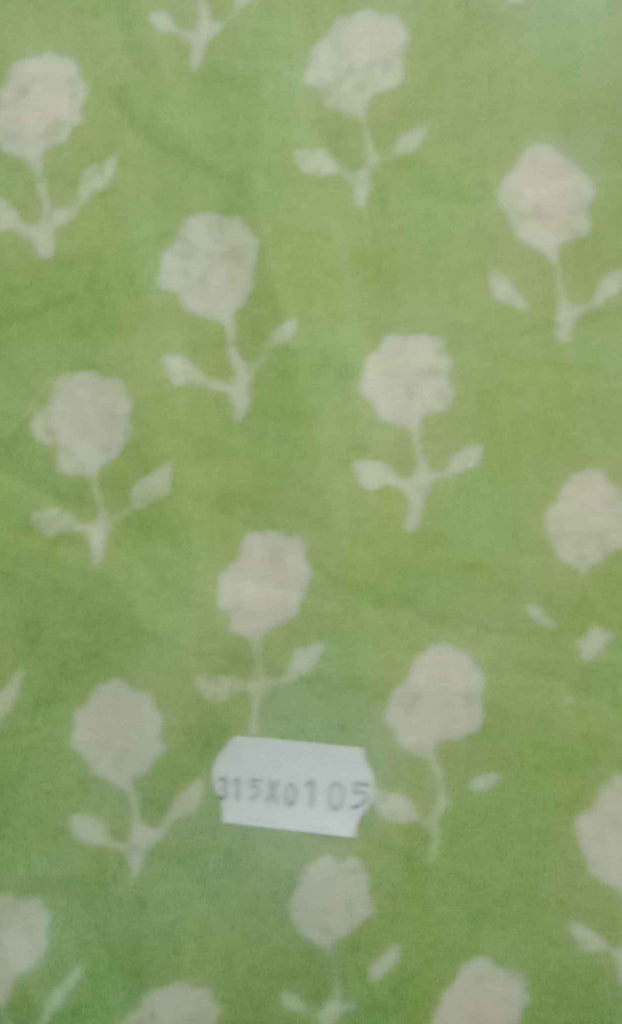 FM01_Cotton Green Prints Fabric