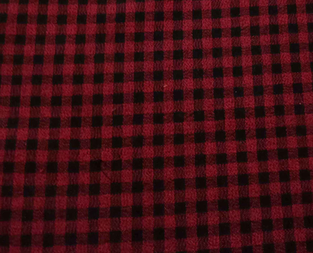 FM01_100% cotton  Red Checks Fabric