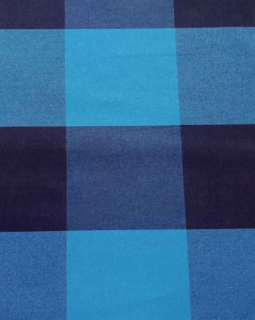 FM01_100% cotton Cyan Check Fabric